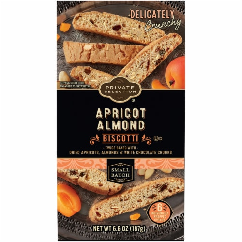 Private Selection® Apricot Almond Biscotti Cookies Perspective: front