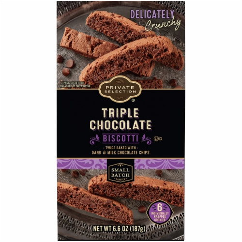 Private Selection® Triple Chocolate Biscotti Cookies Perspective: front