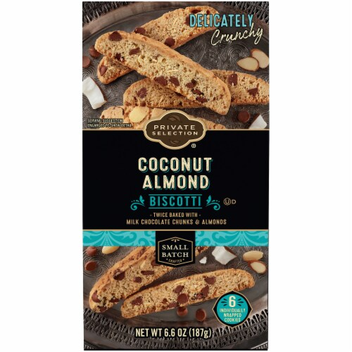 Private Selection® Coconut Almond Biscotti Cookies Perspective: front