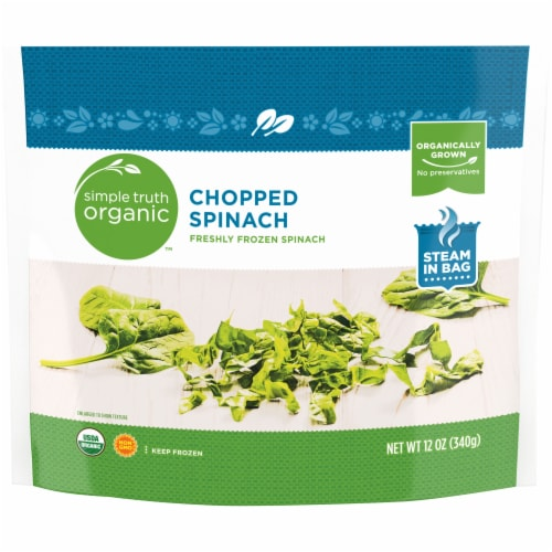Simple Truth Organic™ Chopped Spinach Perspective: front
