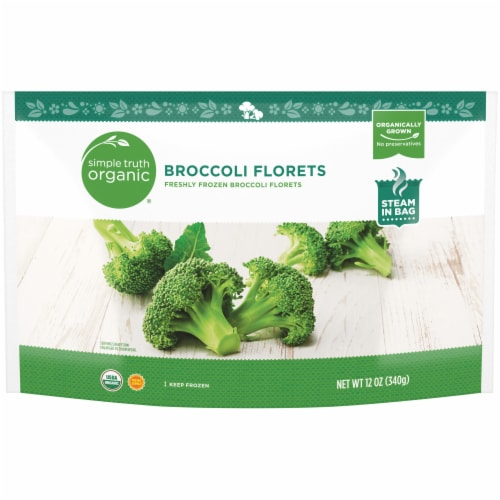 Simple Truth Organic® Freshly Frozen Broccoli Florets Perspective: front