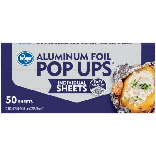 Kroger® Aluminum Foil Pop Ups Individual Sheets Box Perspective: front