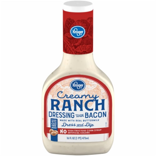 Kroger® Creamy Ranch with Bacon Dressing Perspective: front