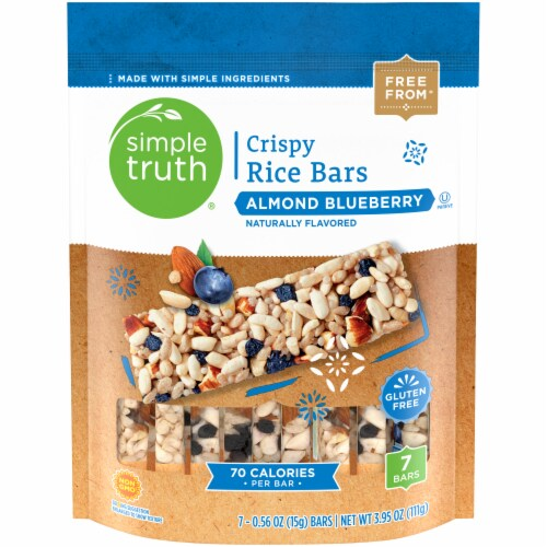 Simple Truth™ Almond Blueberry Crispy Rice Bars Pouch 7-.56 oz Package Perspective: front