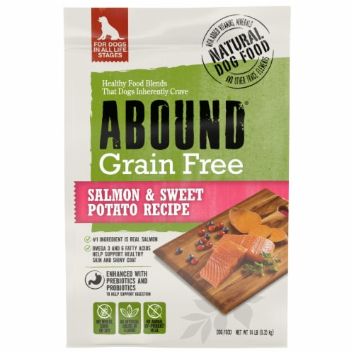 Abound Grain Free Salmon & Sweet Potato Recipe Adult Dog Food Perspective: front