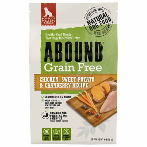 Abound® Grain Free Chicken Sweet Potato & Cranberry Recipe Adult Dry Dog Food Perspective: front