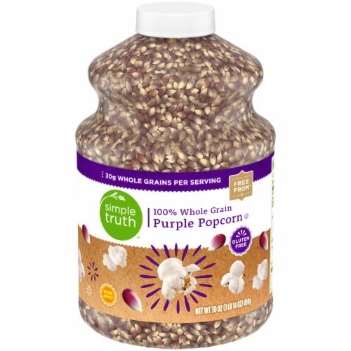 Simple Truth™ 100% Whole Grain Purple Popcorn Jar Perspective: front