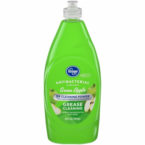 Kroger® Green Apple Scent Antibacterial Dish Soap Perspective: front