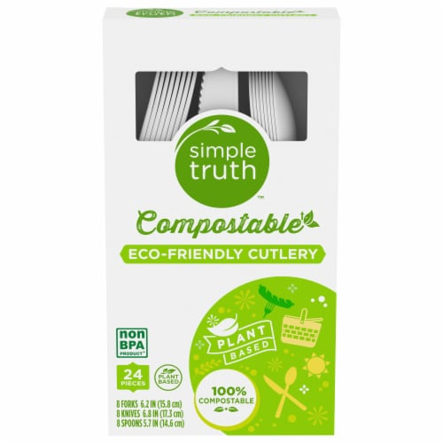 Simple Truth™ Compostable Cutlery Perspective: front