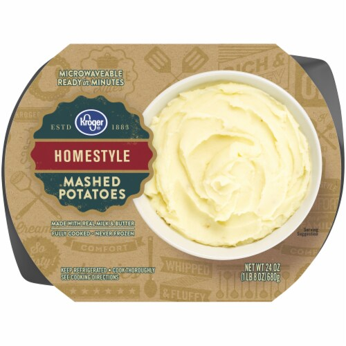 Kroger® Homestyle Mashed Potatoes Tub Perspective: front