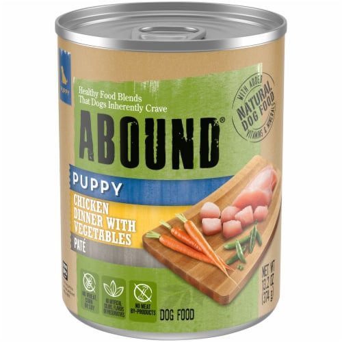 Abound® Chicken Dinner with Vegetables Pate Puppy Food Perspective: front