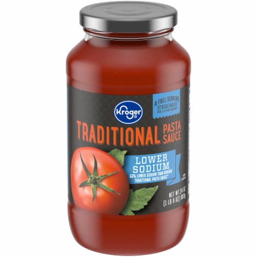 Kroger® Lower Sodium Traditional Pasta Sauce Perspective: front