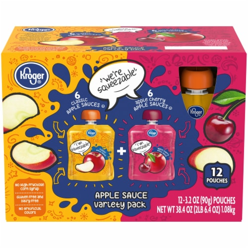 Kroger® Applesauce Variety Pack Perspective: front