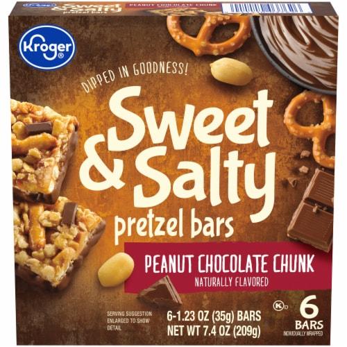 Kroger® Sweet & Salty Peanut Chocolate Chunk Pretzel Bars Perspective: front