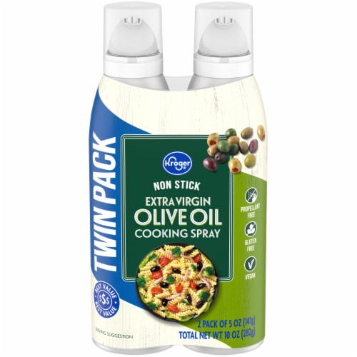 Kroger® Extra Virgin Olive Oil Spray Twin Pack Perspective: front