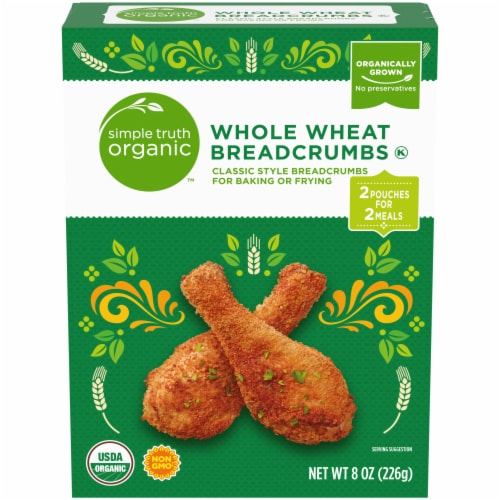 Simple Truth Organic™ Whole Wheat Bread Crumbs Perspective: front