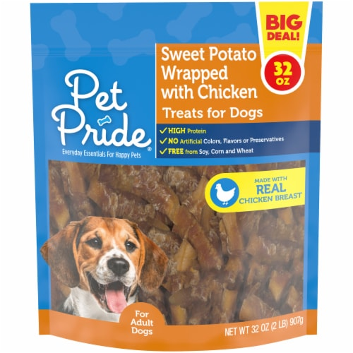 Pet Pride® Sweet Potato Chicken Jerky Dog Treats Perspective: front