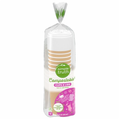 Simple Truth™ Compostable Coffee Cups & Lids Perspective: front