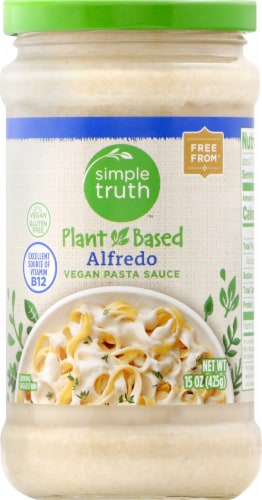 Simple Truth™ Plant Based Alfredo Vegan Pasta Sauce Perspective: front
