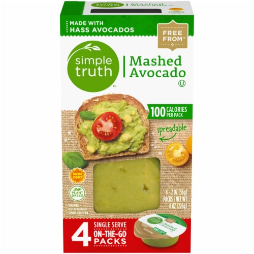 Simple Truth™ Mashed Avocado Single Serve On-The-Go Packs Perspective: front