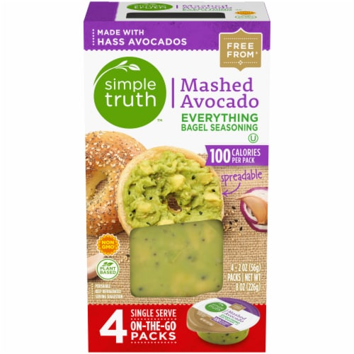 Simple Truth™ Everything Bagel Seasoning Mashed Avocado Perspective: front