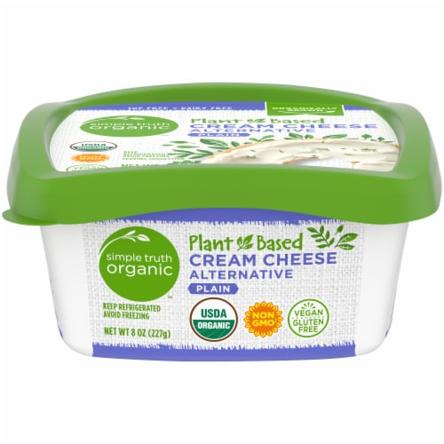 Simple Truth Organic™ Plant-Based Plain Cream Cheese Alternative Perspective: front