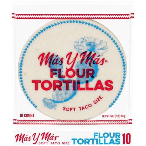 Mas y Mas™ Soft Taco Size Flour Tortillas Perspective: front