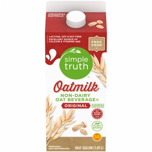Simple Truth Original Oatmilk Non-Dairy Oat Beverage Perspective: front