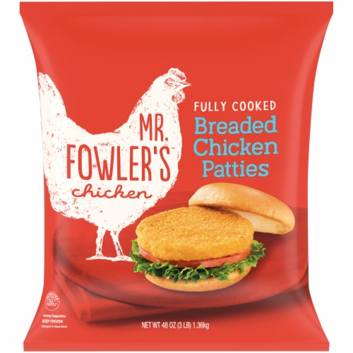 Mr. Fowler's™ Breaded Chicken Patties Perspective: front