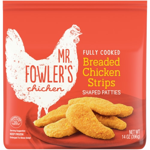 Mr. Fowler's™ Breaded Chicken Strips Perspective: front