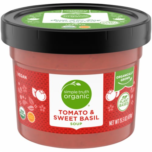 Simple Truth Organic® Tomato & Sweet Basil Soup Perspective: front