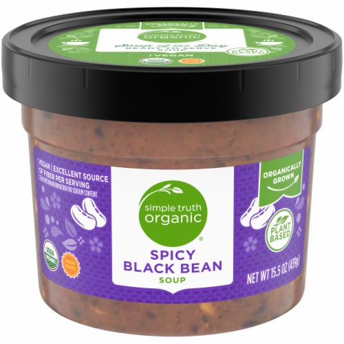 Simple Truth Organic® Spicy Black Bean Soup Perspective: front