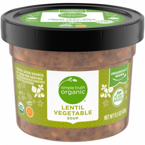 Simple Truth Organic® Lentil Vegetable Soup Perspective: front