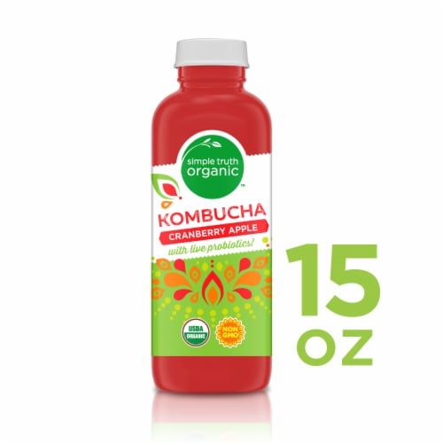 Simple Truth Organic™ Cranberry Apple Kombucha Perspective: front