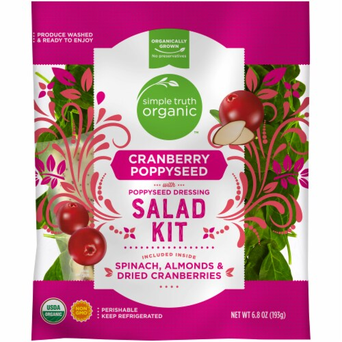 Simple Truth Organic™ Cranberry Poppyseed with Poppyseed Dressing Salad Kit Perspective: front