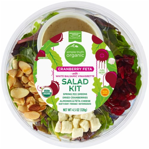 Simple Truth Organic™ Cranberry Feta with White Balsamic Vinaigrette Salad Kit Perspective: front