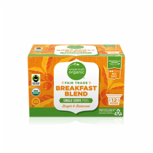 Simple Truth Organic® Breakfast Blend Mild Roast Coffee K-Cup Pods Perspective: front