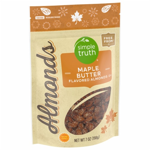 Simple Truth™ Maple Butter Flavored Almonds Pouch Perspective: front