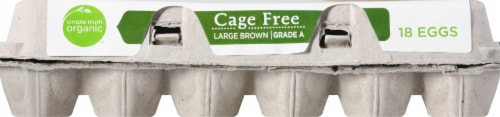 Simple Truth Organic™ Cage Free Large Grade A Brown Eggs Perspective: front