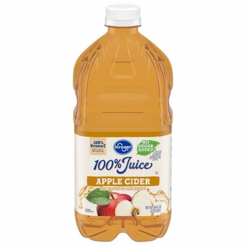 Kroger® 100% Apple Cider From Concentrate Juice No Sugar Added Bottle Perspective: front