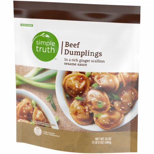 Simple Truth™ Beef Dumplings with Ginger Scallion Sesame Sauce Perspective: front