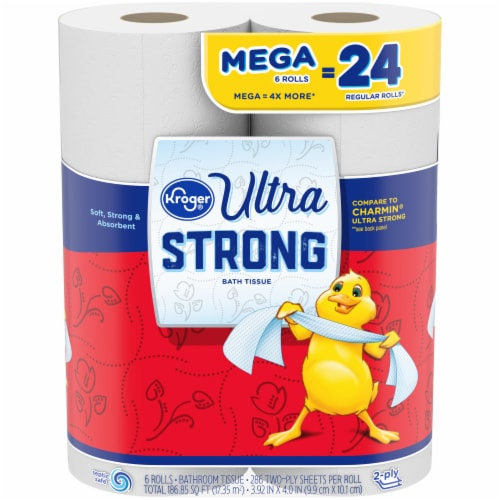 Kroger® Ultra Strong Mega Roll Bath Tissue Perspective: front