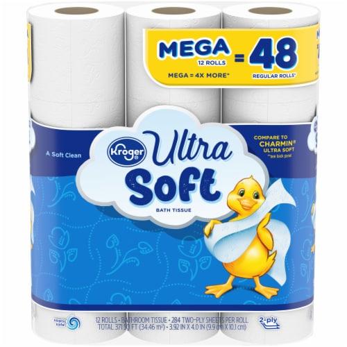 Kroger® Ultra Soft Mega Roll Bath Tissue Perspective: front