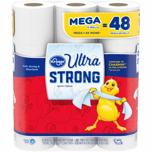 Kroger® Ultra Strong Mega Roll Bath Tissue Perspective: front