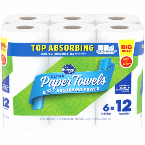 Kroger® Select-A-Sheet Double Paper Towels Perspective: front