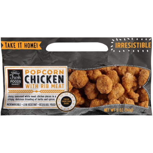Fresh Foods Market Popcorn Chicken with Rib Meat Perspective: front