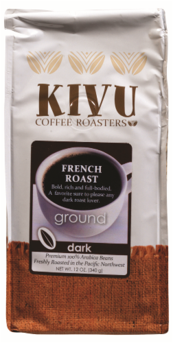 Kivu French Roast Ground Coffee Perspective: front