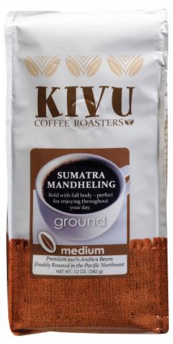 Kivu Sumatra Mandheling Medium Roast Ground Coffee Perspective: front