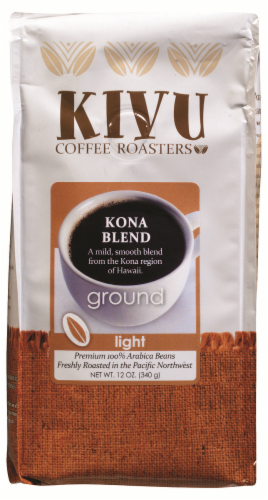 Kivu Kona Blend Ground Coffee Perspective: front