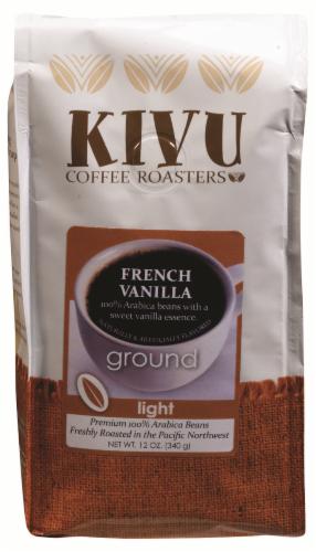 Kivu French Vanilla Ground Light Roast Ground Coffee Perspective: front